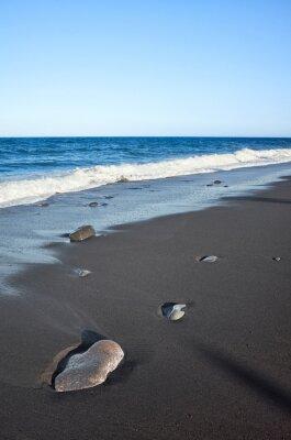 Empty volcanic beach of Candelaria, Tenerife.
