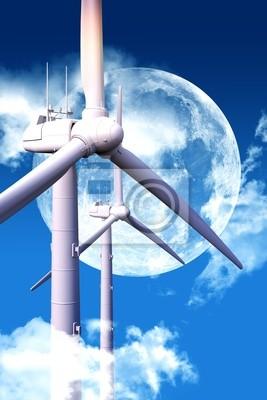 Energia wiatru w nocy