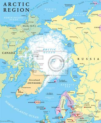 Obraz Mapa Polityczna Alaska Na Wymiar Podrozowac Ameryka