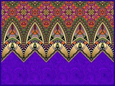 Obraz ethnic horyzontalny autentyczne dekoracyjne paisley wzór dla