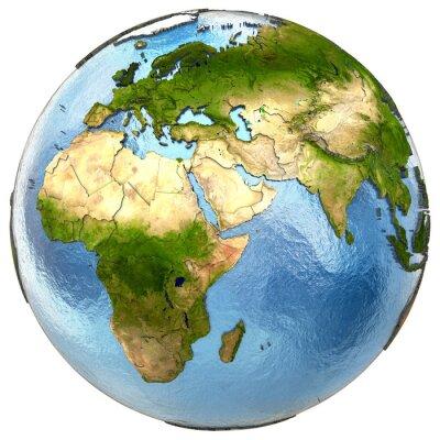 Obraz Europa i Afryka na Ziemi