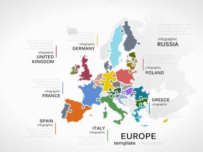 Obraz Europa mapa