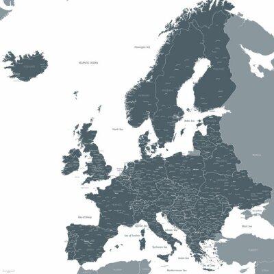 Obraz Europe map wektorowych