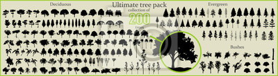 Obraz Even More Ultimate Tree collection, 200 detailed, different tree vectors