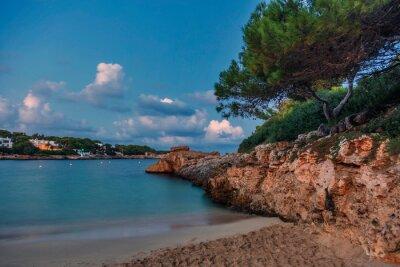 Evening beach before night
