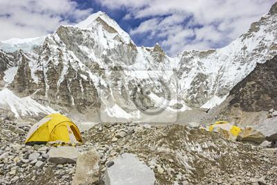 Obraz Everest Base Camp w pochmurny dzień, Everest Region