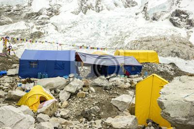 Everest Base Camp w pochmurny dzień, Everest Region