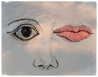 Obraz Face, metaphorical artistic collage