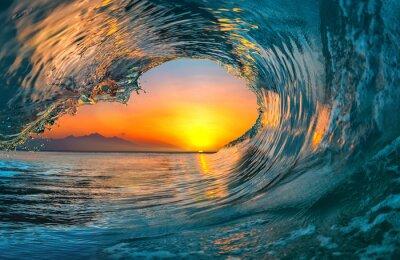 Obraz Fala oceaniczna wody morskiej