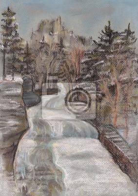 Obraz Falls w sezonie zimowym