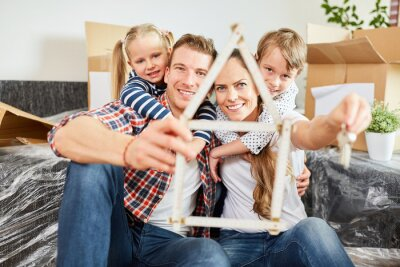 Obraz Familie und Haus als Symbol für Traumhaus