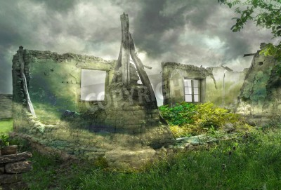 Obraz fantastyczne ruiny