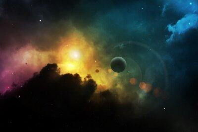 Obraz Fantasy miejsca mgławica z planety