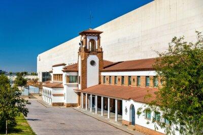 Fasada dworca kolejowego Zaragoza-Delicias - Hiszpania