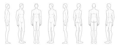Obraz Fashion template of standing men.