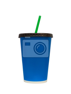Fast Food Drinking Cup Isoleted On White, Clipping Paths