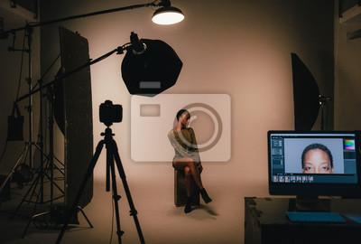 Obraz Female model posing for a photo shoot