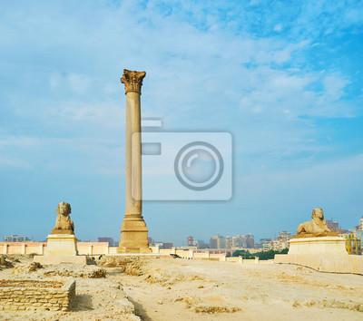 Filar cesarza rzymskiego Dioklecjana, Aleksandria, Egipt