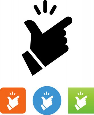 Obraz Fingers Snapping Hand Gesture Vector Icon