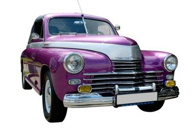 Obraz fioletowy samochód retro samodzielnie