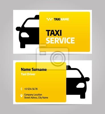 Firma taksówkarska lub wizytówka. Szablon projektu układu wektorowego dla taksówki.