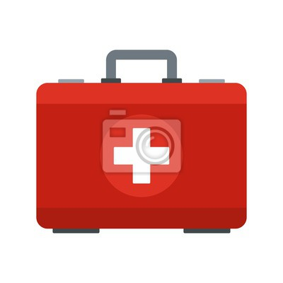 Obraz First aid kit icon. Flat illustration of first aid kit vector icon for web design