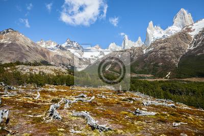 Fitz Roy górski, Andes w Patagonii, Argentyna