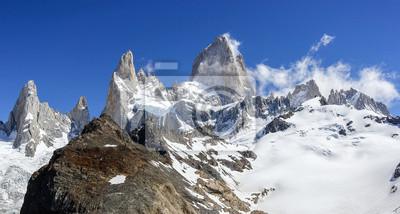 Fitz Roy Mountain Range w Patagonii, Argentyna