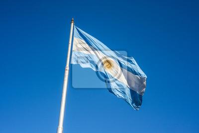 Flaga argentyńskie w Buenos Aires, Argentyna.
