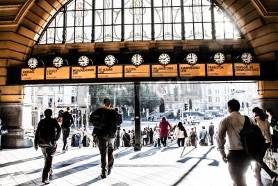 Obraz Flinders Street Station The entrance to Flinders Street Station. Australia, Melbourne.
