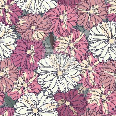 Floral bez szwu. Bukiet róż