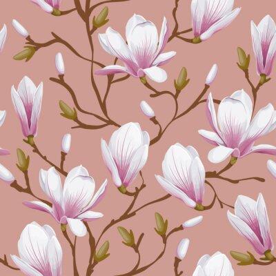 Obraz Floral bez szwu - magnolia