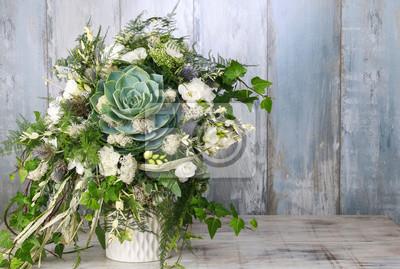 Obraz Floral układ z soczystą, frezji i mchu.