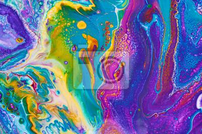 Obraz Fluid Art. No. Abstrakcjonistyczny kolorowy tło, tapeta, tekstura. Mieszanie farb. Sztuka współczesna. Marmurowa tekstura