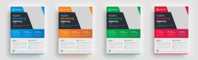 Obraz flyer. creative corporate trendy unique business marketing agency flyer magazine leaflet design with abstract geometric shape advertising template print poster
