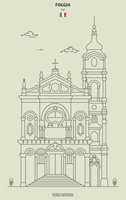 Foggia cathedral, Italy. Landmark icon