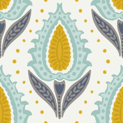 Obraz Folk tulips seamless pattern