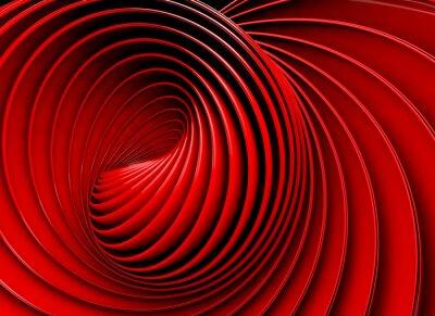 Obraz Fondo abstracto 3d.Espiral o remolino pl tono rojo