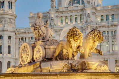 Obraz Fontanna Cibeles w Madrycie, Hiszpania