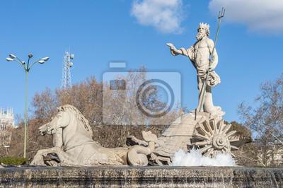 Fontanna Neptuna w Madrycie, Hiszpania.