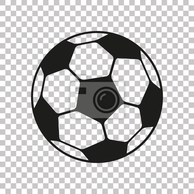 Obraz Football icon in flat style. Vector Soccer ball on transparent background . Sport object for you design projects