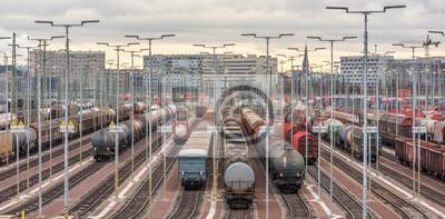 Formacja pociągów w Halle Saale
