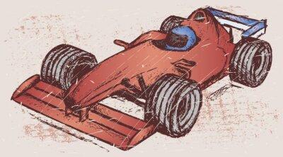 Obraz Formuła 1 wyścig. Grunge styl