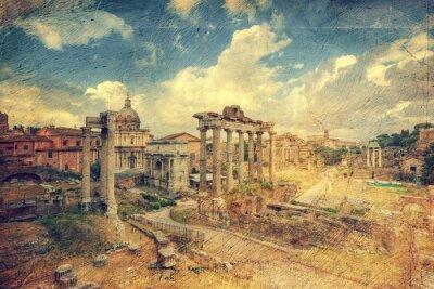 Obraz Foro Romano. Rzym. Włochy.