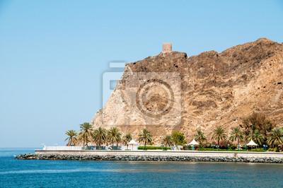 Fort na skale w Muscat.