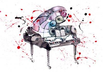 Obraz fortepian