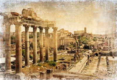Forum rzymskie - retro obraz