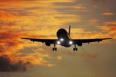 Obraz Fotografia z powietrza samolot odrzutowy