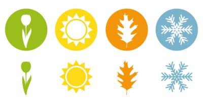 Obraz four season summer spring autumn winter symbol vector illustration EPS10