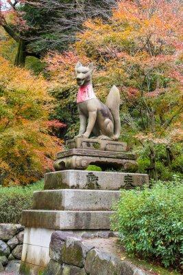 Obraz Fox w Fushimi Inari Shrine, Kyoto, Japonia